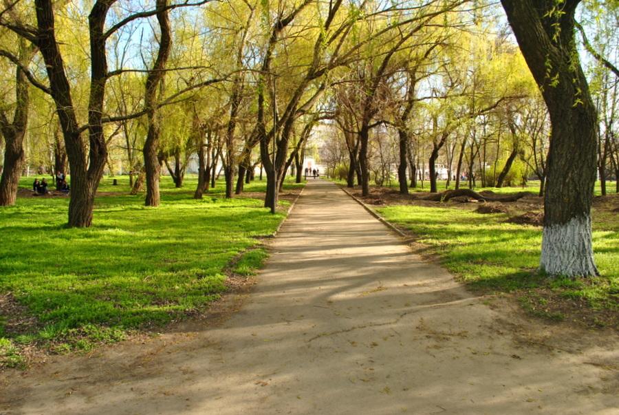Город Николаев, сквер на Речном вокзале.