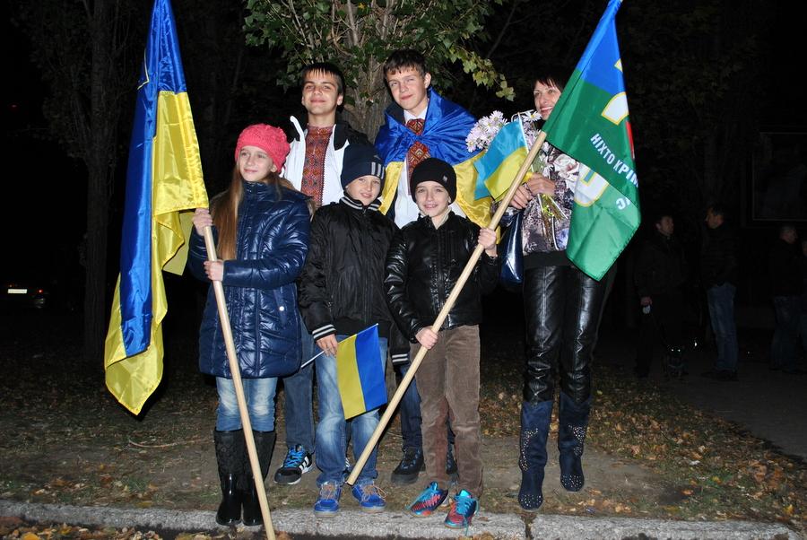 Город Николаев встречает 79-ю Аэромобильную Бригаду из зоны АТО 0219