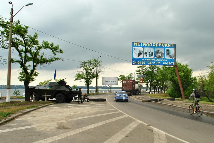 Блок-пост возле Варваровского моста