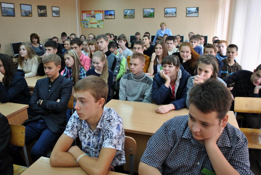 Встреча школьников с морпехами