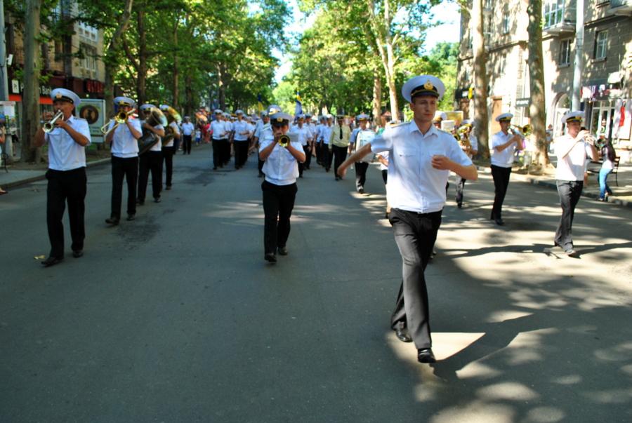 День ВМС Украины. Часть 1 - Парад частей гарнизона в Николаеве