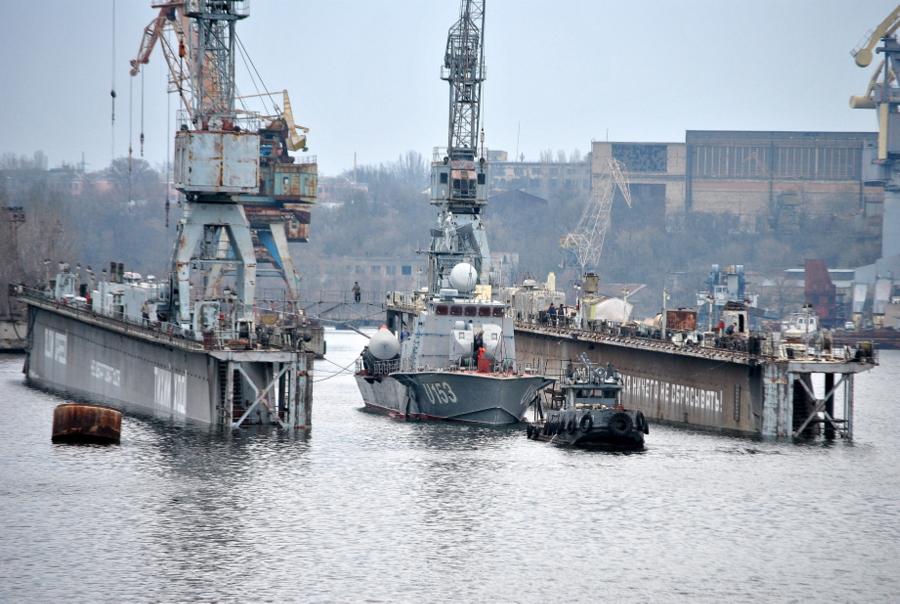 Ракетный катери Прилуки спущен на воду