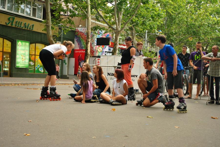 Уличный чемпионат по слалому на роликах