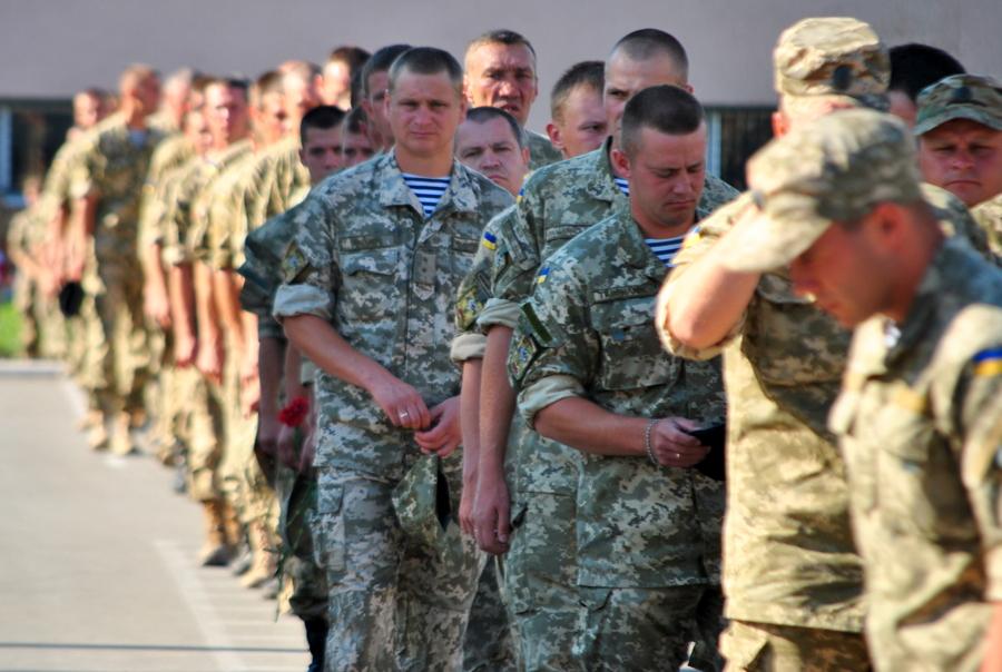 Прощание с погибшим матросом Василием Гончаруком
