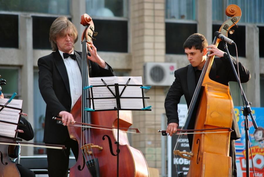 Концерт классической музыки возле ОДК