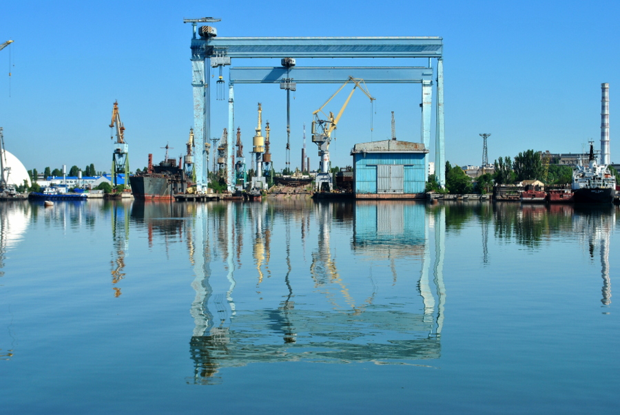 Каботажная гавань и переправа на Корениху